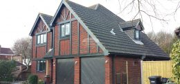 Grey fascia soffits and guttering