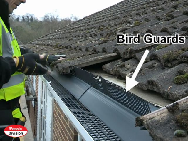 bird guards being fitted