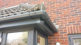 Anthracite grey UPVC square guttering, fascias and soffits