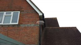 Box end detail on the gable end