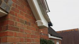 Detail of the box end in UPVC