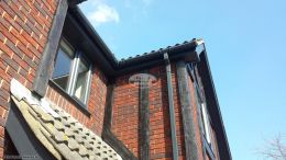 Replacement UPVC fascia, soffits and guttering in anthracite grey