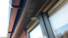 UPVC tongue and groove soffit in anthracite grey