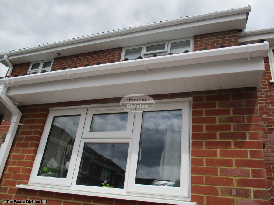White Upvc Square Guttering With White Upvc Fascias And