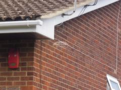 Box end detail on full replacement fascia and soffit job in Alum Chine
