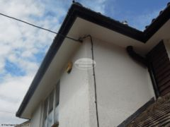 Installation of UPVC plain soffit with black fascia and guttering Wimborne