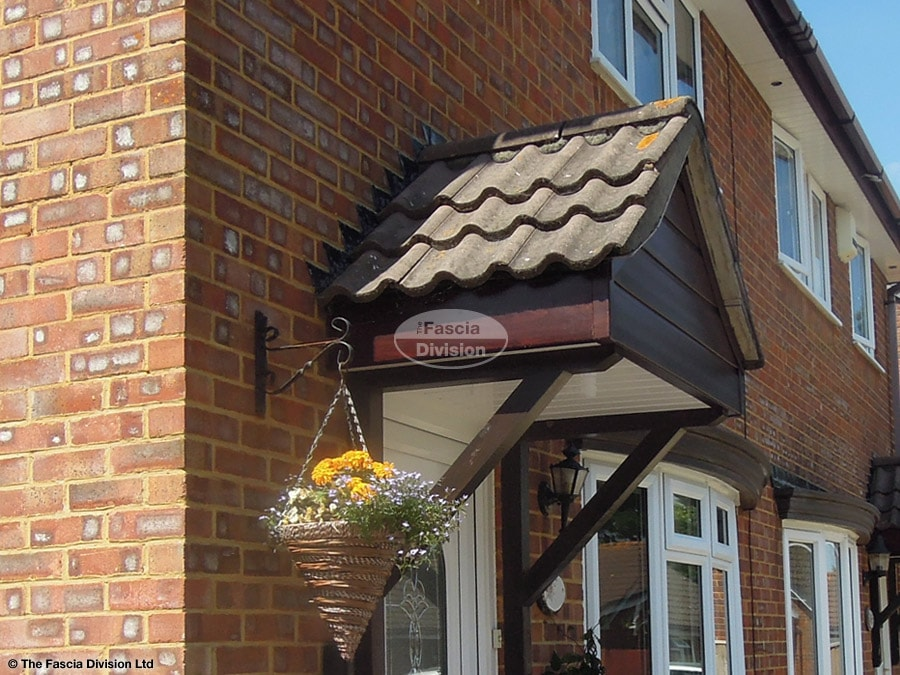 New UPVC fascia, soffit and cladding on a porch in Bournemouth