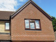 Replace bargeboards in rosewood UPVC in Verwood