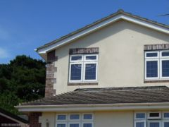 Replace fascias, soffits and guttering on a detached house in Queenspark Dorset
