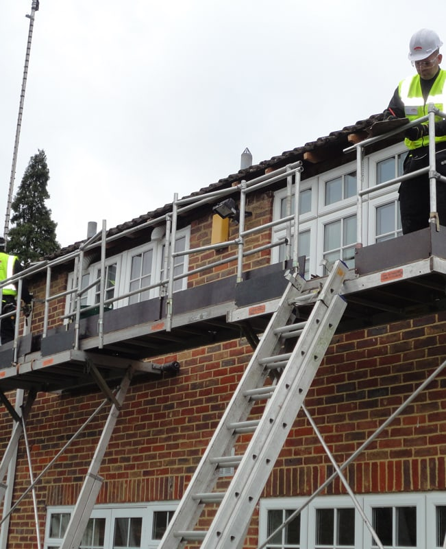 Replacing fascia, soffit and guttering using our access equipment