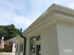 White UPVC fascias, soffits and guttering installers