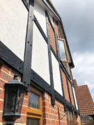 Replica wood mock tudor beams in black