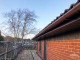 brown square guttering with rosewood fascias and soffits