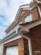Fascias, soffits and guttering in white UPVC